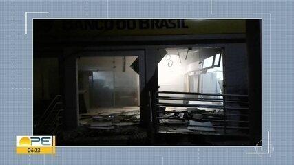 Agência bancária é alvo de explosão em Pombos, na Zona da Mata de Pernambuco