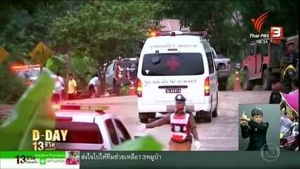 Operação de resgate retira 4 crianças de caverna na Tailândia