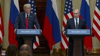 Trump surpreende o mundo ao apoiar Putin que nega interferência nas eleições americanas