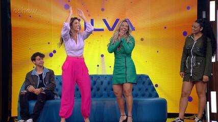 Rafa Brites e Carla Perez dançam 'É o Tchan' em intervalo de gravação