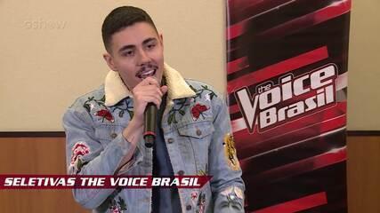 Confira vídeo exclusivo de Renan Cavolik na seletiva do The Voice Brasil