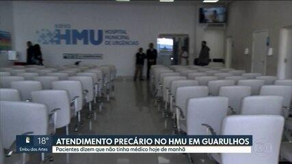 Pacientes reclamam da falta de médicos no HMU, em Guarulhos