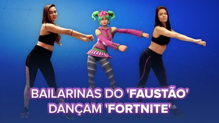 Bailarinas do 'Domingão do Faustão' ensinam danças de 'Fortnite'