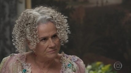Pacata? Que nada! Olha essa cena da mãe Benedito confrontando Lady Margareth!