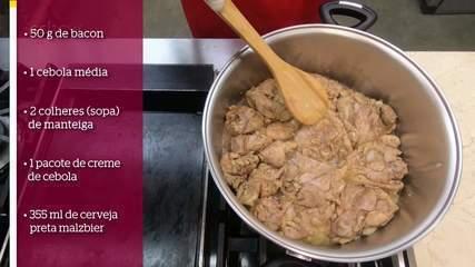 Aprenda a fazer frango ao molho de cerveja escura