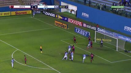 Leandro Souza empata o jogo contra o Oeste