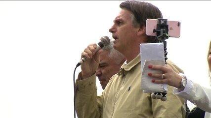 Jair Bolsonaro (PSL) faz campanha no interior de São Paulo