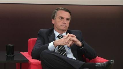 Central das Eleições recebe Jair Bolsonaro, candidato do PSL à presidência