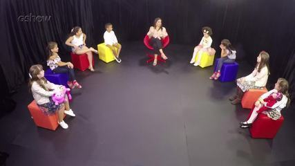 Confira a entrevista de Anitta com as crianças na íntegra