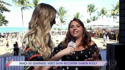 Saiba por onde anda Sharon Acioly, dona do hit 'Dança do Quadrado'