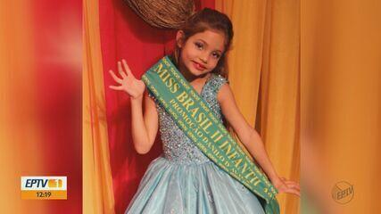 Menina de 8 anos de Itirapina vence Miss Brasil 2018