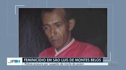 Vídeo mostra suspeito de matar namorada saindo de casa com uma mala, em Goiás