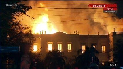 Incêndio atinge o Museu Nacional, no Rio de Janeiro