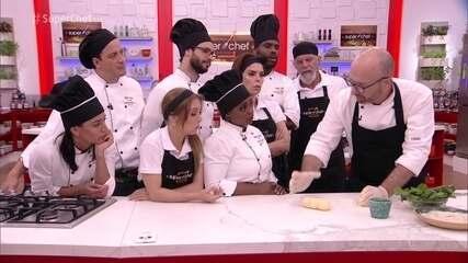 Chef Salvatore Loi ensina a fazer nhoque no workshop do 'Super Chef'