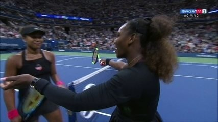 Pontos finais de Naomi Osaka 2 x 1 Serena Williams pela final do US Open