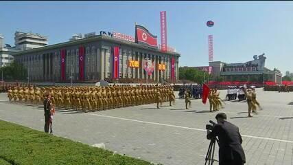 Coreia do Norte faz desfile militar sem mísseis intercontinentais