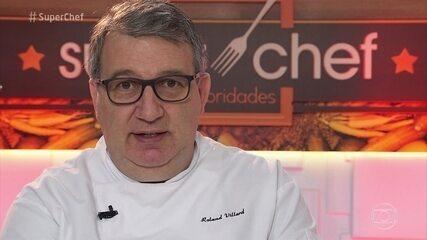 Participantes recebem as notas do chef Roland Villard