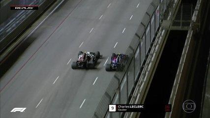 Lecrecrc briga por posição com Gasly e leva a melhor no GP de Cingapura