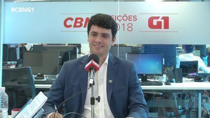 Rodrigo Tavares (PRTB) é entrevistado pelo G1 e pela CBN