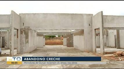 Moradores de Gurupi reclamam de atraso na construção de creche