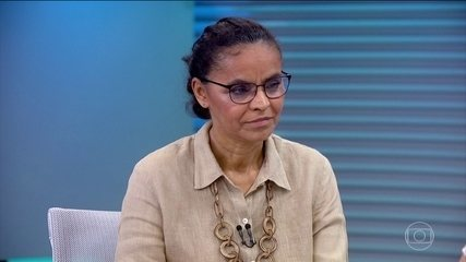 Marina Silva (Rede) é entrevistada no Jornal da Globo