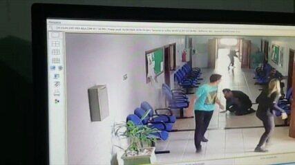 Vídeo mostra juiz de MT fugindo após ser baleado em fórum
