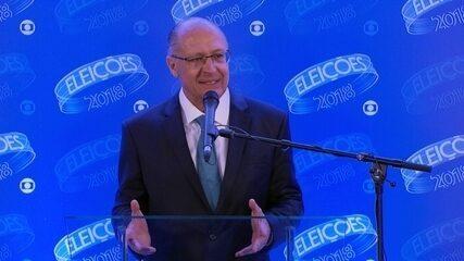 Geraldo Alckmin (PSDB) concede entrevista coletiva após debate da Rede Globo