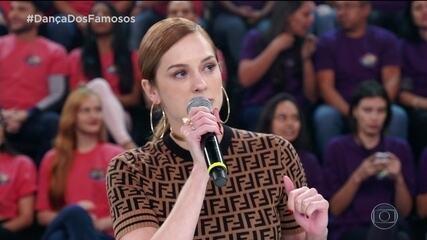 Sophia Abrahão conta que aprendeu muito sobre programa ao vivo no palco do 'Domingão'