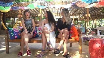 Paulinha desembarca na Ilha dos Frades e monta looks inovadores de moda praia