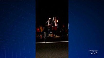 Acidente com ônibus é registrado na BR-316 no Maranhão