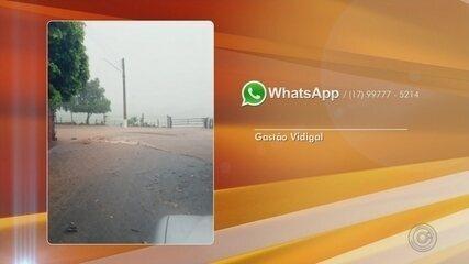 Ruas ficam alagadas após chuva em Gastão Vidigal