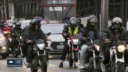 Acidentes de moto matam mais em São Paulo