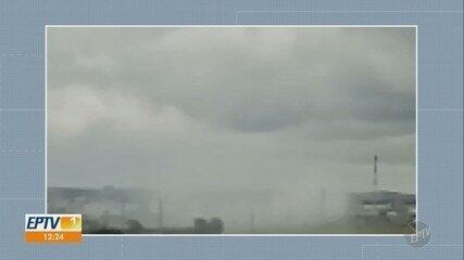 Uma semana após incêndio, moradores reclamam de fumaça na área da EMS, em Hortolândia