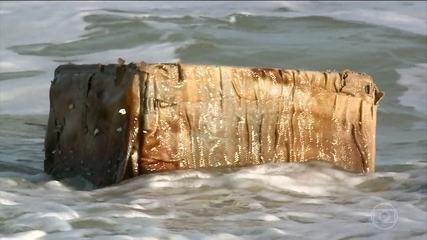 Identificado material misterioso que estava em caixas que apareceram em Alagoas
