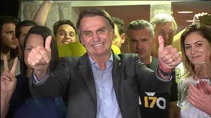 Jair Bolsonaro (PSL) faz discurso após ser eleito presidente da República