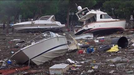 Enchentes deixam  mortos na Itália