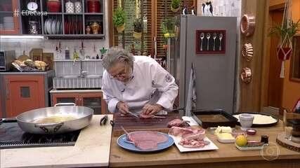 Toque do Ravioli: chef cozinha para a família de Monalisa e Cristiano