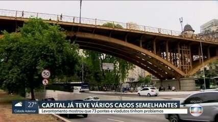 Pesquisa de 2017 mostra que 73 pontes e viadutos na capital tinham problemas estruturais