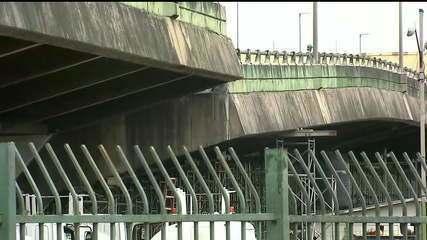 Técnicos liberam circulação de trens e dizem que estrutura do viaduto ficou estável