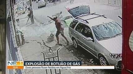 Vídeo mostra momento de explosão após vazamento de botijão de gás no Recife