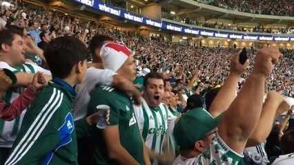 GE na Arquibancada: veja reações da torcida do Palmeiras na goleada sobre o América-MG