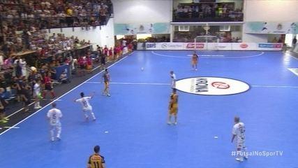 Os gols de Pato Futsal 2 (3) x (1) 2 Sorocaba pela semifinal da Liga Nacional de Futsal
