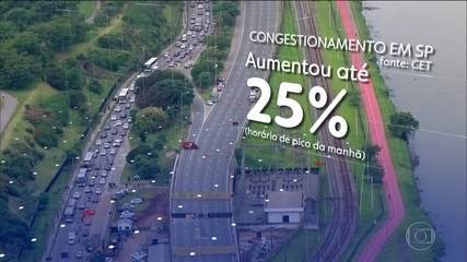 Empresas de São Paulo se adaptam ao aumento de trânsito por causa do viaduto que cedeu