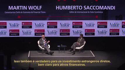 Veja a entrevista com o economista chefe de economia do Financial Times, Martin Wolf
