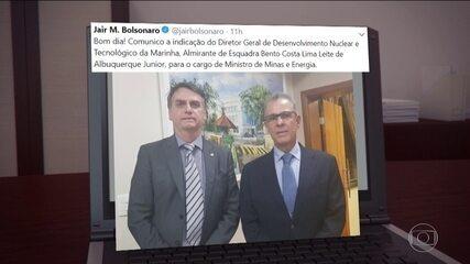 Bolsonaro escolhe almirante Bento Costa Lima Leite para Ministério de Minas e Energia