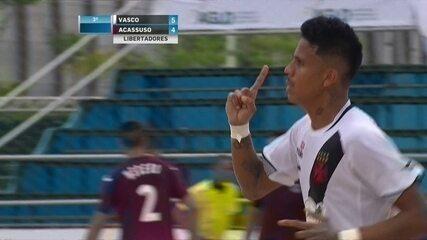 Os gols de Vasco 5 x 4 Acassuso pela semifinal da Libertadores de futebol de areia