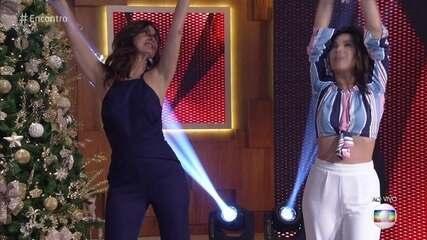 Fátima se arrisca em coreografia com Wanessa Camargo