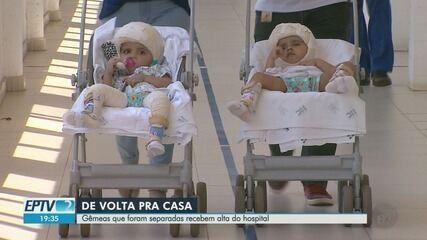 Gêmeas que foram separadas recebem alta do hospital em Ribeirão Preto