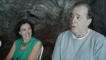 Tony Ramos mostra os bastidores da cena do ataque de Valentina a Olavo