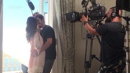 Juliana Paiva e Nicolas Prattes se divertem nos bastidores da lua de mel de Samuca e Marocas em 'O Tempo Não Para'; veja o vídeo!